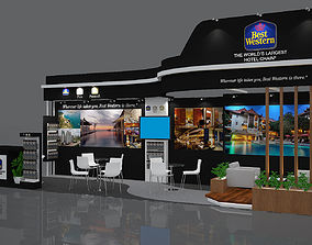 BEST WESTERN Booth Design 9x3m 3D model