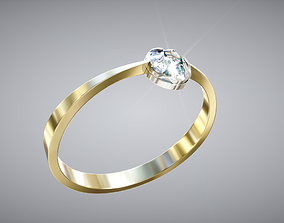 3D model Gold Rings Pack with Diamond