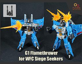 G1 Flamethrower for Transformers WFC Siege 3D print model