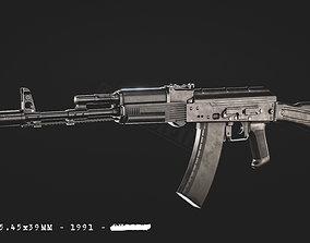 AK74M 3D asset