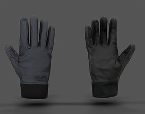 VR Hands - Winter Gloves 3D asset rigged