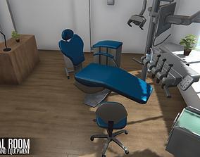 3D asset Dental room - interior and equipment