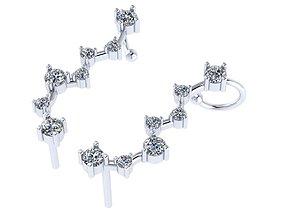 Diamond kaffa earrings 3D printable model