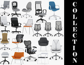 17 Office Chairs Collection 3D