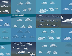 sky Low Poly Cloud Collection 3D model