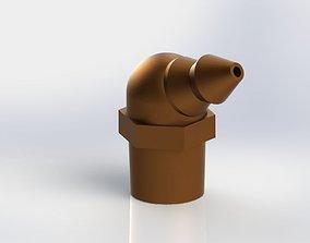 3D GREASE FITTING 65 DEG 18 NPT