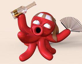 3D printable model Drunk octopus