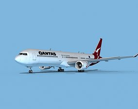 Boeing 767-400 Qantas 3D model