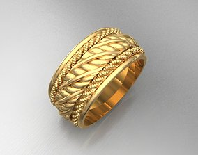 3D printable model precious Wedding rings