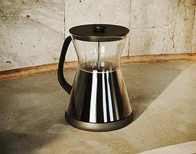 French Press Pot - Filter Coffee Maker 3D asset