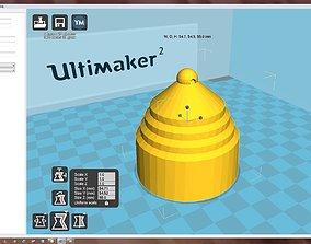 bauble Snowflake 3D print model