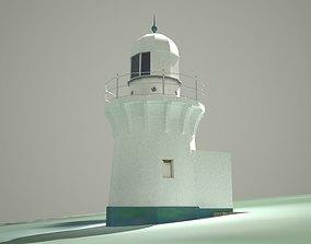 3D Ballina Lighthouse Low Poly