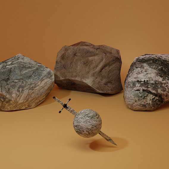 Low Poly Rocks!