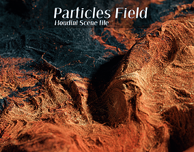 Particles Field Houdini Scene 3D