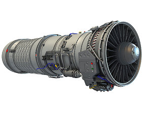 3D Military Afterburning Engine