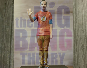 Sheldon Cooper Big Bang Theory ready for full color 3D 1