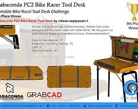 Rabaconda PC2 Bike Racer Tool Desk 3D model animated
