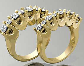 Gold Ring 3D print model fashion-ring gem