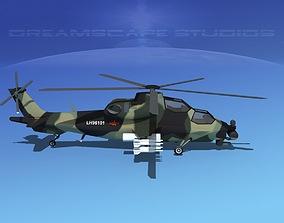 3D asset WZ-10 Attack Helicopter V02