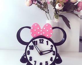 Clock Minnie Mouse 3D printable model
