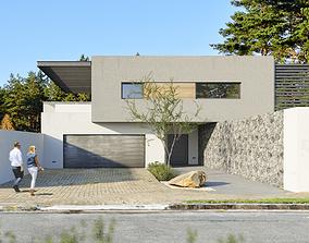 VrayforC4D scene files - House Banton - Modern 3D model 1