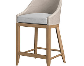 RH Marisol Seagrass Slope Stool 3D