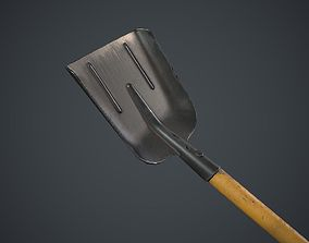 3D asset game-ready Shovel Black and Yellow