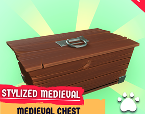 FREE - Stylized Medieval Chest 3D model