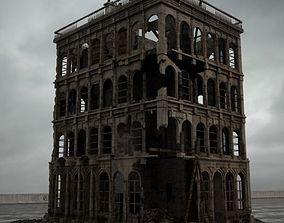 3D model destroyed building 091 am165