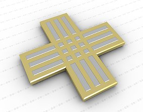 3D model game-ready pendant jewellery Cross