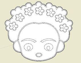 3D print model Frida Khalo Cookie Cutter