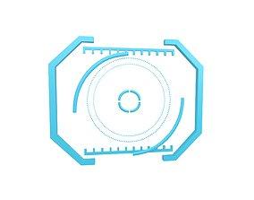 UHD High-tech Graphical Interface v2 002 3D asset