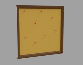 3D model Corkboard