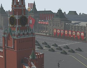 Red Square Soviet Parade 3D model