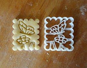 Butterfly cookie cutter v2 3D print model