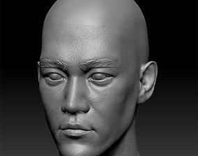 3D printable model Bruce Lee bald