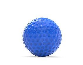 Golf ball 3D model detail