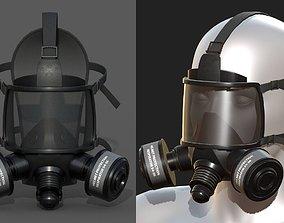 game-ready Gas mask helmet 3d model military combat