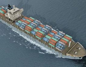 3D asset Cargo Container Ship