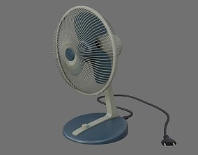3D asset Table Fan 1B