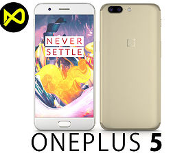 3D model OnePlus 5 Soft Gold