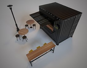 3D vraynext Container Cafe