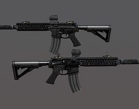 AR Assault Rifle PBR MK18 3D asset