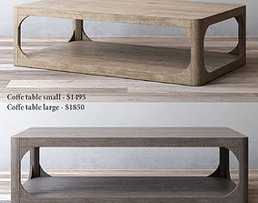 RH MARTENS RECTANGULAR COFFEE TABLE loft 3D model