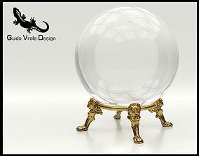 Fortune teller crystal ball 3D