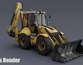 3D model low-poly Tractor B115