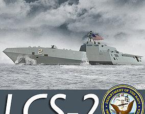 US Navy Littoral Combat Ship General Dynamics 3D model