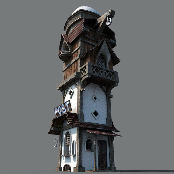 Post tower
