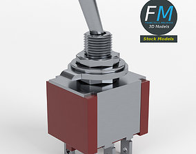 Double pole double throw switch 3D model