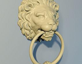 Lion Door knob 3D print model